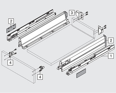 комплектация Tandembox N 68 мм